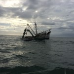Shrimper leaving Morehead City